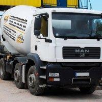 Piegāde transporta betonu ar M