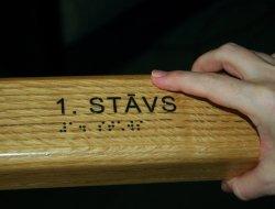 uzlīmes magrām ar Braila rakst
