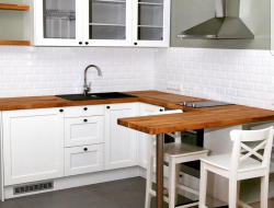 Masīvkoka galda virsmas virtuv