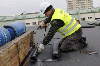 Kausējamo jumtu remonts
