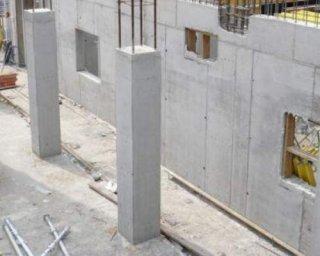 Monolīta sienas un nesošās kol